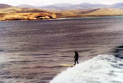 Mike enjoying the Baja surf
