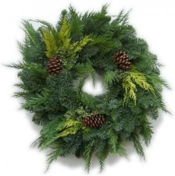 Deluxe Cedar & Noble Fir Wreaths - Product Image