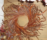Japanese Fantail Pussy Willow Wreaths - Product Image