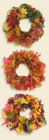 Preserved California Oak Wreaths