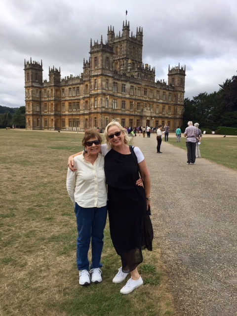Daughter Jill and Bobbi at Highclere Castle