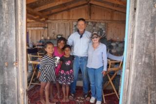 Pinecones.com owners Bobbi, Mike, and friends at Baja cabin