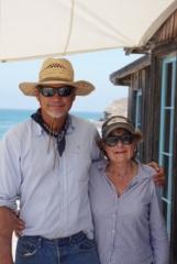 Pinecones.com owner, Mike and Bobbi at Baja cabin